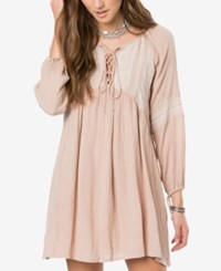 O'neill Juniors' Junie Crochet Peasant Dress A Macy's Exclusive Nude