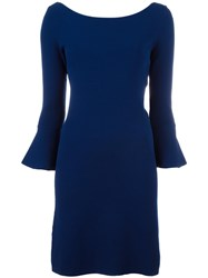 Twin Set Bell Sleeve Dress Blue