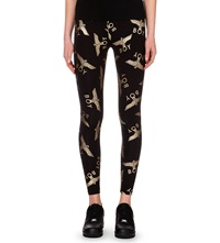 Boy London Gold Toned Motif Leggings Black Gold