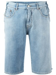 Maison Martin Margiela Mm6 Denim Shorts Blue