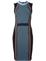 Versace Runway Knit Sport Dress Blue