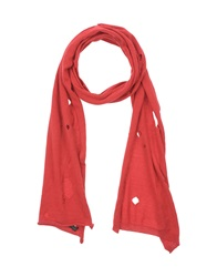 Daniele Alessandrini Oblong Scarves Red