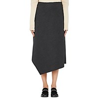 Yune Ho Women's Lloyd Pin Striped Gabardine Skirt Dark Grey