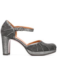 Chie Mihara Capin Ankle Strap Pumps Grey