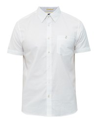 Ted Baker Men's Wooey Cotton Chambray Shirt White