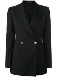 Tagliatore J Smart Blazer Women Cupro Virgin Wool 44 Black