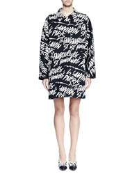 Lanvin Long Sleeve Kimono Cut Dress Black