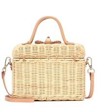 Ulla Johnson Perle Wicker Shoulder Bag Beige