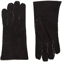 Barneys New York Shearling Lined Gloves Black