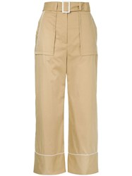 Manning Cartell Cropped Palazzo Trousers Brown