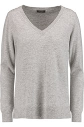 N.Peal Cashmere Boyfriend Cashmere Sweater Gray