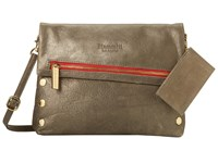 Hammitt Vip Pewter Gold Red Zip Cross Body Handbags Brown