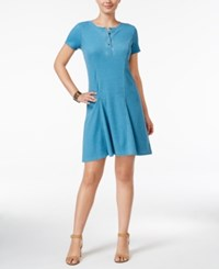 G.H. Bass And Co. Burnout Dyed Fit And Flare Dress Blue Nile