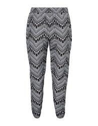 Junarose Tavis Patterned Pants Black