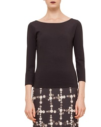 Akris Punto Three Quarter Sleeve Jersey Top