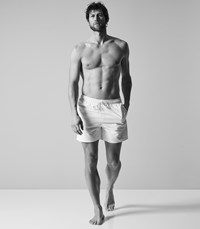 Reiss Sonar Drawstring Swim Shorts In White