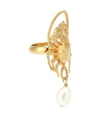 Givenchy Pearl Pendant Ring Gold