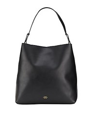 Vince Camuto Solid Leather Hobo Bag Black