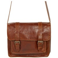 Fat Face Claire Leather Satchel Bag Tan