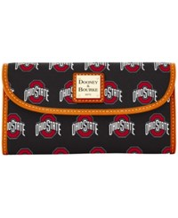 Dooney And Bourke Ohio State Buckeyes Large Continental Clutch Black