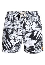 Rip Curl Volley Plants Swimming Shorts Optical White Black
