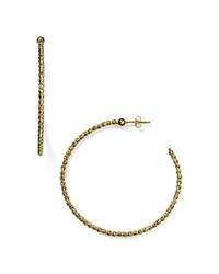 Officina Bernardi Beaded Hoop Earrings Gold
