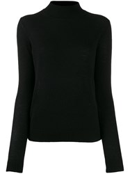Theory Slim Fit Cashmere Jumper Black