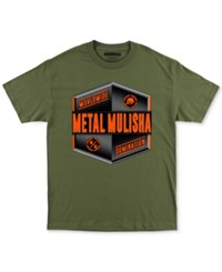 Metal Mulisha Men's Emblem Short Sleeve T Shirt Military Green