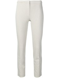 Theory Micro Pattern Trousers Neutrals