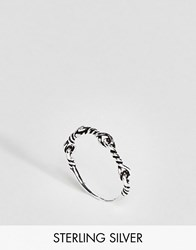 Asos Sterling Silver Twist Ring Silver