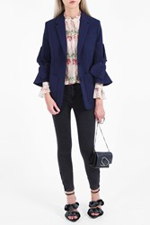 Roksanda Ilincic Women S Alleyn Flare Sleeve Jacket Boutique1 Navy
