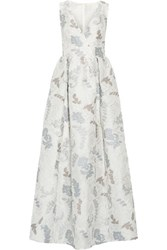 Tory Burch Jacquard Gown Ivory