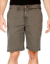 Lucky Brand Solid Blended Cotton Shorts Raven