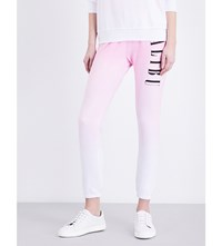 Wildfox Couture Miami Skinny Fleece Jogging Bottoms Flamingo Pink