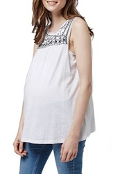 Women's Topshop Embroidered Sleeveless Maternity Top