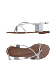 Lola Cruz Footwear Thong Sandals Women Light Grey