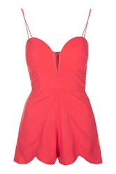 Rare Sweetheart Scallop Edge Playsuit By Coral