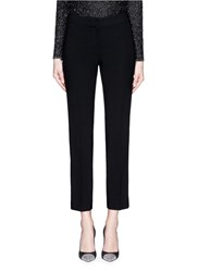 St. John 'Emma' Crepe Morocain Cropped Straight Pants Black
