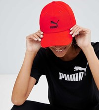 Puma Exclusive Logo Cap With Taping In Red Red