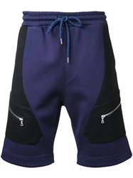 Markus Lupfer Zip Patch Track Shorts Blue