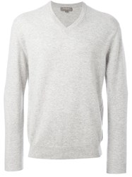 N.Peal 'The Burlington' V Neck Sweater Grey