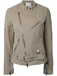 3.1 Phillip Lim Classic Biker Jacket Brown