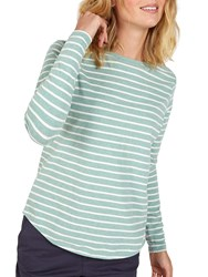 Fat Face Breton Stripe Top Seafoam