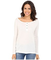 Culture Phit Makaila Long Sleeve Top With Buttons White Women's Clothing