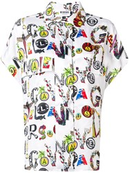 Versus All Over Print Shirt White