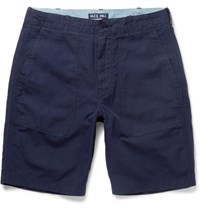 Alex Mill Cotton And Linen Blend Canvas Shorts Navy