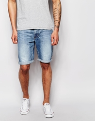 Lee Denim Shorts Worker Relaxed Fit Spring Journey Mid Wash Springjourney
