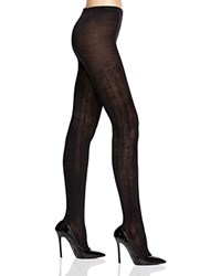 Hue Bold Cable Sweater Tights Black