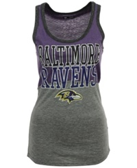 5Th And Ocean Women's Baltimore Ravens Color Block Tank Gray