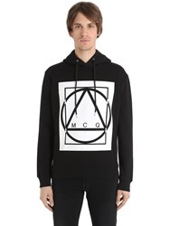 Mcq By Alexander Mcqueen Logo Printed Hooded Cotton Sweatshirt
